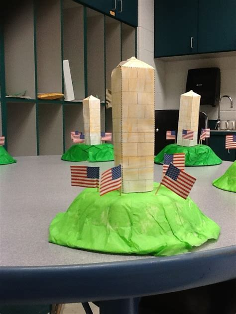washington monument craft  grade pinterest