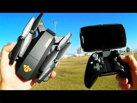 visuo xshw altitude hold folding fpv p hd camera drone flight test review youtube