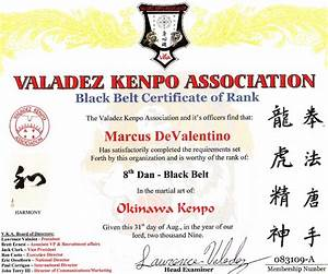 devalentino karate certificates With karate black belt certificate templates