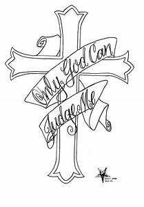 "cross, ""Only God can judge me"" 