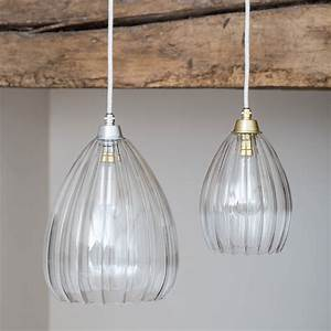 Clear, Ribbed, Glass, Molly, Pendant, Light, By, Glow, Lighting
