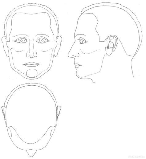 blender male template blueprints gt humans gt humans gt male head 2