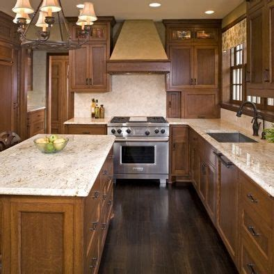oak kitchen light countertops