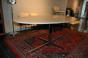 Table Marbre Ovale : table ovale en marbre type arabescato 1970 ~ Teatrodelosmanantiales.com Idées de Décoration