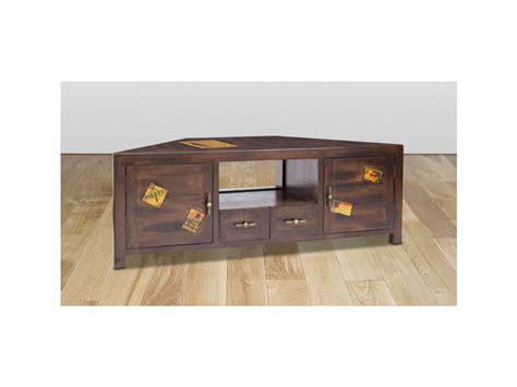canapé angle meuble tv d 39 angle travel manguier 2 portes 2 tiroirs