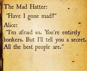 Alice In Wonderland Mad Hatter Quotes. QuotesGram