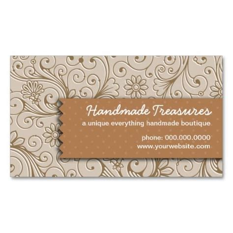 crafters floral handmade business card templates sewing