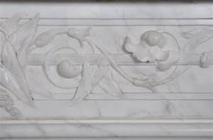 Marbre Blanc De Carrare : grande chemin e ancienne de style louis xvi en marbre ~ Dailycaller-alerts.com Idées de Décoration