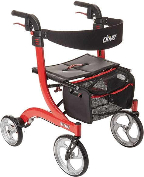 walker drive rollator medical nitro euro seat wheel seniors walkers narrow types brakes four spaces 9jp hx5 wheels healthguideline rolling