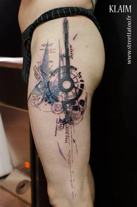 geometric  watercolor tattoo geometric watercolour