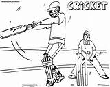 Cricket Coloring Pages Game Print Cricket1 sketch template