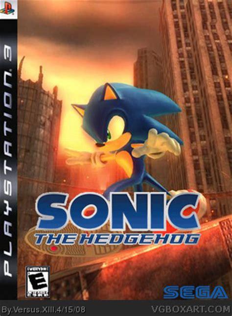 sonic  hedgehog ps playstation  box art cover