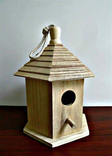 unfinished wood bird house mosaics decorative painting
