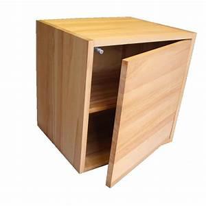Meuble Cube But : cube de rangement avec tag re et porte en bois de h tre ~ Teatrodelosmanantiales.com Idées de Décoration