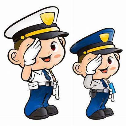 Salute Clipart Police Policeman Officer Clip Transparent