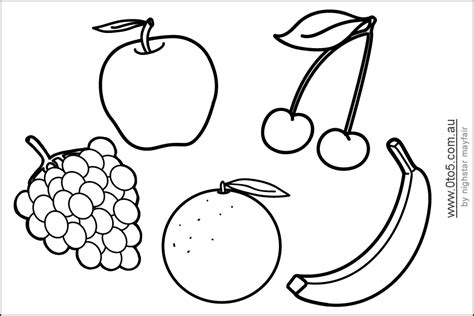 fruit template printable fruit coloring pages coloring