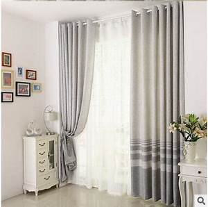 Group Communication Cotton Linen Striped Modern Luxury Window Curtains For