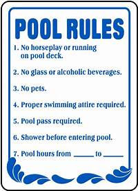 pool rules sign Pool Rules Sign F6918 - by SafetySign.com