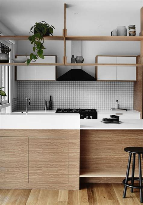 cuisine bois et blanc la cuisine blanche et bois en 102 photos inspirantes archzine fr