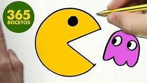 COMO DIBUJAR UN PAC MAN KAWAII PASO A PASO Dibujos kawaii faciles How to draw a PAC MAN
