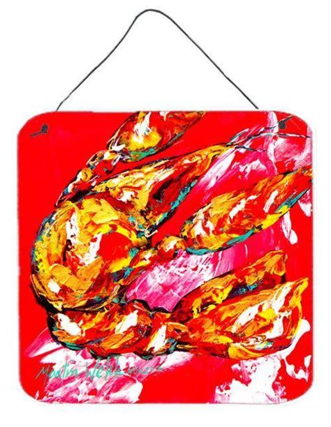 crawfish  hot aluminium metal wall  door hanging prints key hooks wooden coat rack