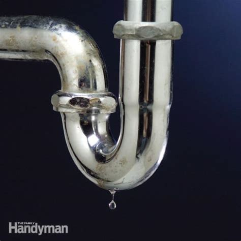 how to fix leaking pipe under sink the top 10 plumbing fixes the family handyman