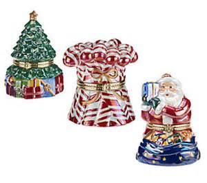 mr christmas set of 3 host choice musical ornaments qvc com