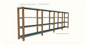 Simple Storage Garage Plans Ideas by White Easy Economical Garage Shelving From 2x4s