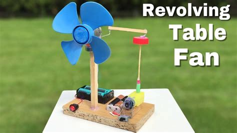 how to make a mini revolving table fan at home easy to build amazing idea