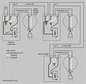 Four Way Switch With Multiple Lights Electrical Wiring Diagram