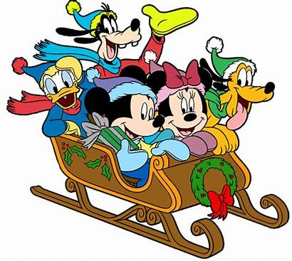 Mickey Christmas Mouse Clipart Disney Clip Friends