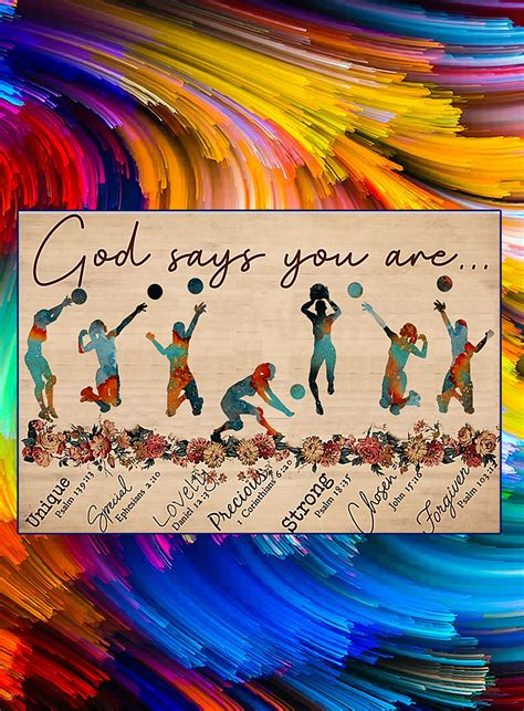 God says you are voleyball poster