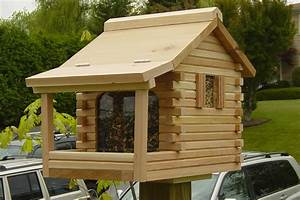 Log Cabin Bird Feeder - Rickety Furniture