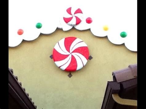 diy giant peppermint candy decoration gingerbread