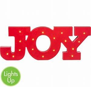 light up led joy block letter sign 16in x 6in party city With lighted block letters