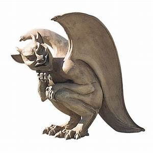 Gargoyle Guardian Gothic Resin Winged Outdoor Garden Home ...