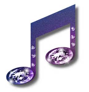 Purple Music Notes Clip Art