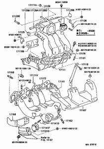 1985 Toyota Van Exhaust Manifold  Engine