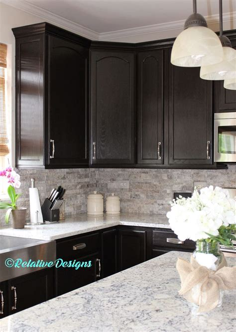 dark cabinets ideas  pinterest kitchen furniture inspiration modern granite