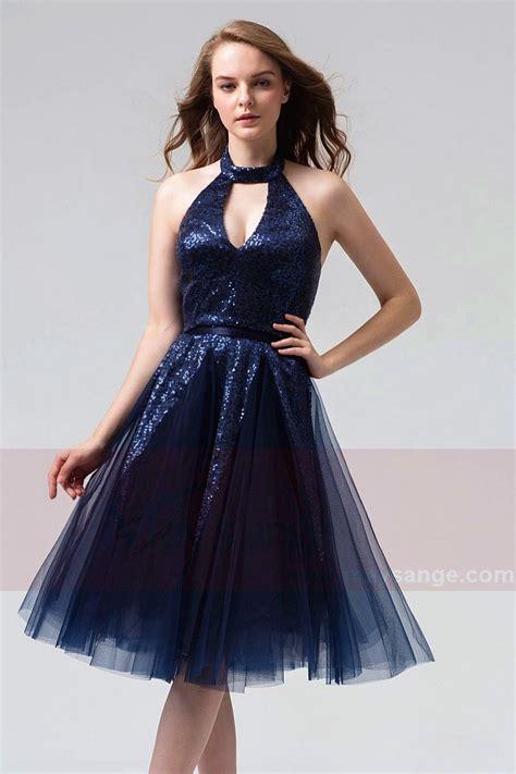 robe pour mariage bleu marine et blanc robe de cocktail bleu marine habill 233 e paillet 233 s pour mariage