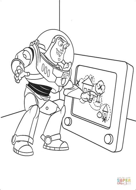 buzz  drawing coloring page  printable coloring pages