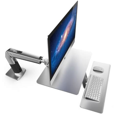 imac 27 desk mount sit stand imac desk doesn 39 t need a vesa adapter