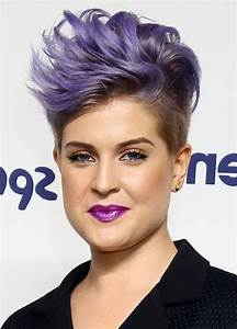 Kelly Osbourne Cool Short Spiked Purple Haircut | Styles ...