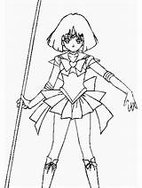 Saturn Sailor Coloring Pages Moon Colouring God Popular Clip Library Clipart Template Coloringhome Fan Club Line sketch template