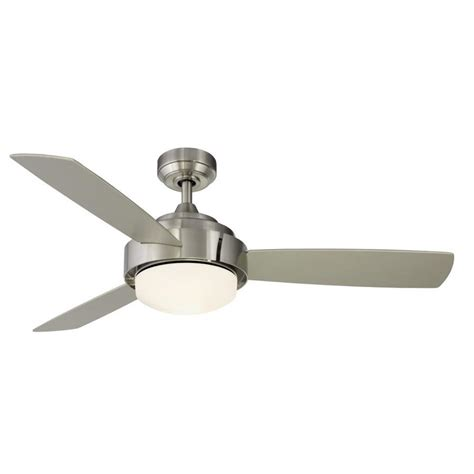 shop fanimation studio collection coop 52 in brushed nickel indoor downrod mount ceiling fan
