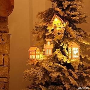 Maison De Noel Miniature : tinksky deco noel en bois tinksky maison de noel miniature lumineux suspension noel b0779lp752 ~ Nature-et-papiers.com Idées de Décoration