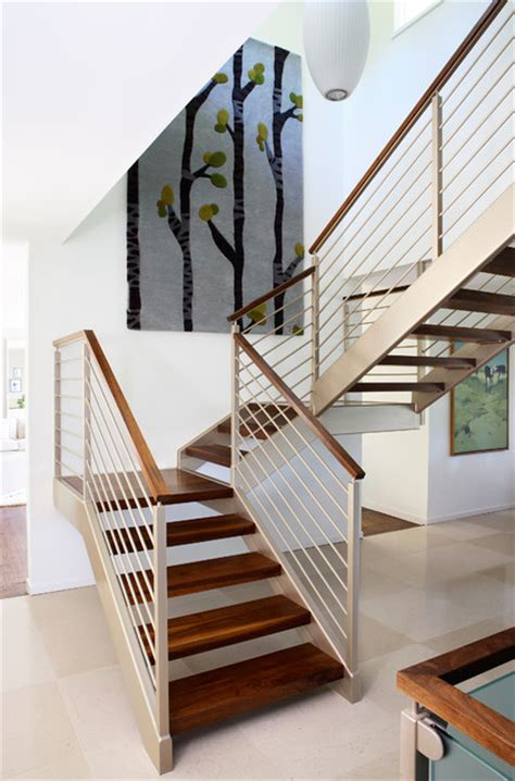 story addition midcentury staircase san
