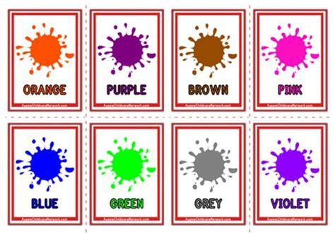 colours flashcards paint drops aussie childcare network
