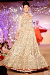Gold and Cream Indian Wedding Dresses