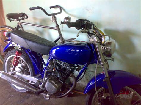 Motor Cb Modifications by Motor Honda Cb 100 Blue Fresh Modification